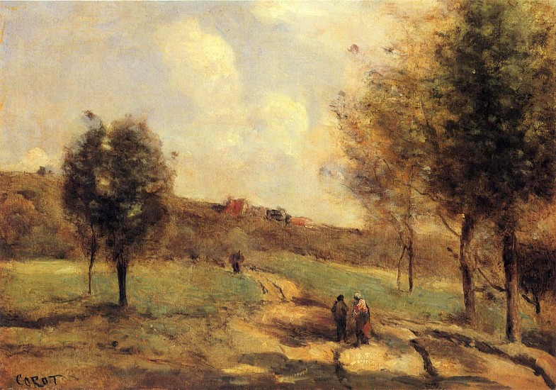 Jean Baptiste Camille Corot, Coubron - Route Montante ca.1870, Oil on canvas